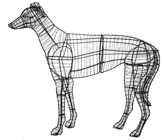 Greyhound Topiary Wire Frame
