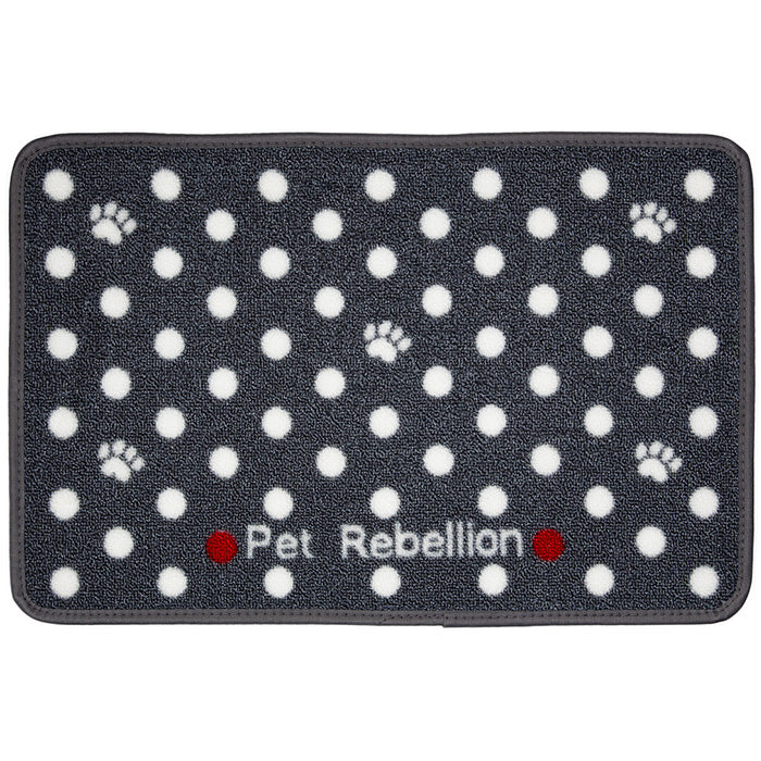 Grey Spotty Food Mat