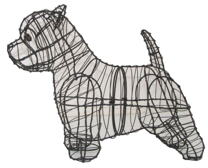 Westie Topiary Wire Frame