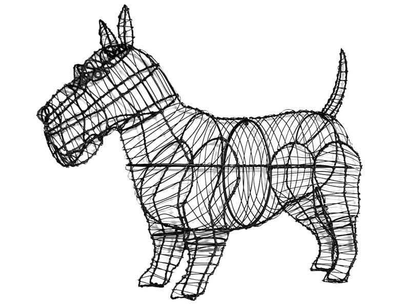 Scottie Topiary Wire Frame