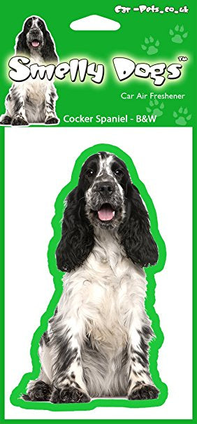 Black & White Cocker Spaniel Air Freshener