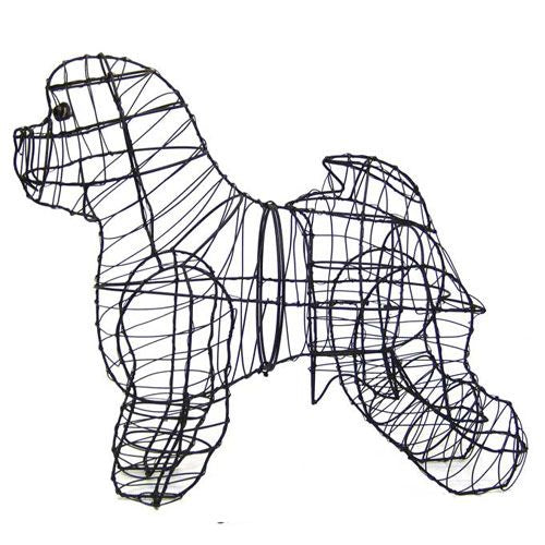 Bichon Topiary Wire Frame