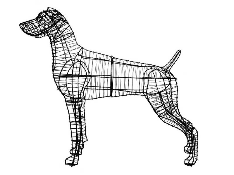 Weimaraner Topiary Wire Frame
