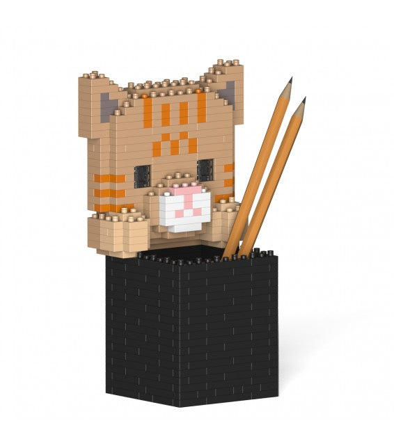 Tabby Cat Pencil Cup
