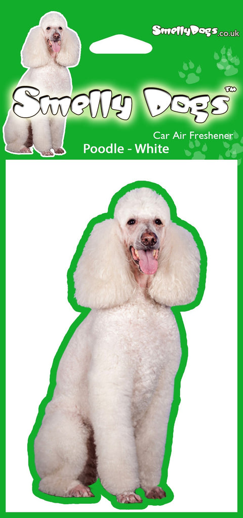 White Poodle Air Freshener
