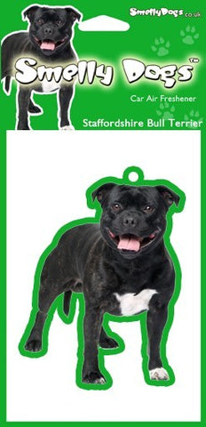 Black Staffie Air Freshener