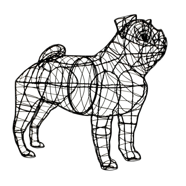 Pug Topiary Wire Frame