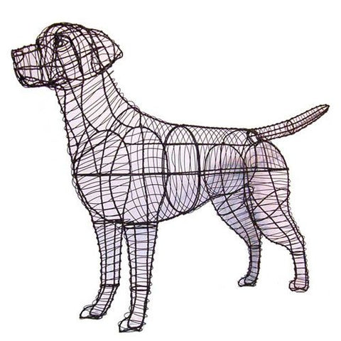 Labrador Topiary Wire Frame