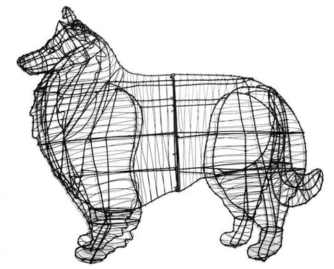 Collie Topiary Wire Frame