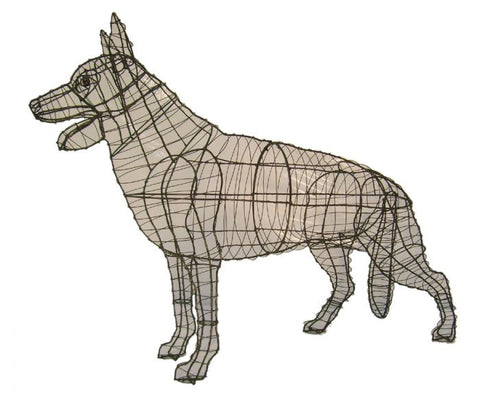 German Shepherd Topiary Wire Frame
