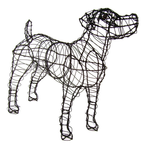 Jack Russell Topiary Wire Frame
