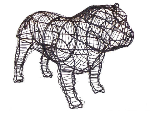 English Bulldog Topiary Wire Frame
