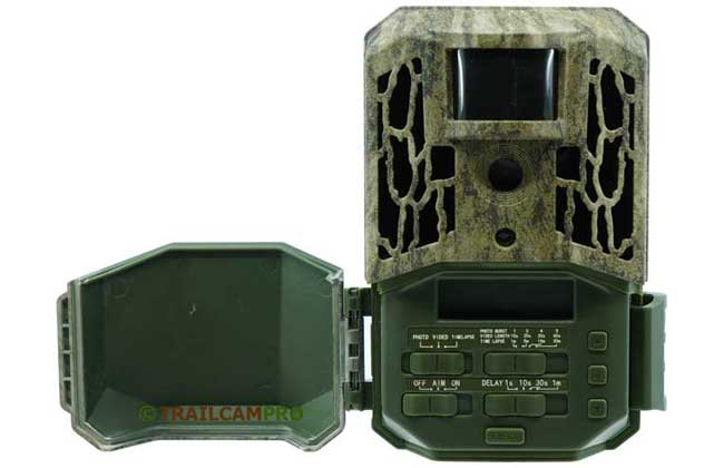 open view of settings in primos trail camera