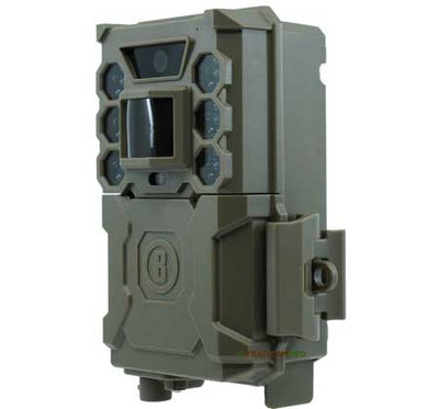side view of bushnell core low glow trail camera