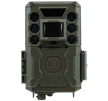 "front view of bushnell core low glow trail camera  width=""450"" height=""420"""