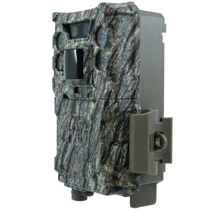 side view of bushnell core ds low glow trail camera