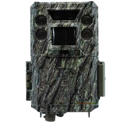 "front view of bushnell core ds low glow trail camera  width=""450"" height=""420"""