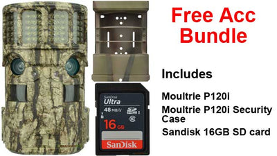 Free accessory bundle Moultrie Panoramic includes security case, and 16gb SD card