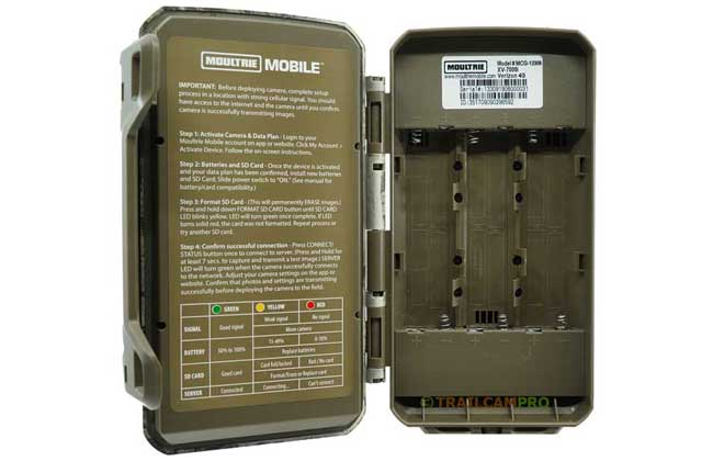 Open view Moultrie XV-7000i cellular trail camera