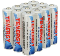 Rechargeable trailcam batteries Tenergy 12 pack