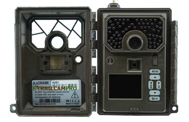 Open view of Covert Blackhawk LTE Trail Camera