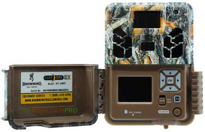 open view of the browning dark ops hd pro x trail camera