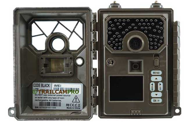 Open  view of 2019 Covert Code Black LTE Trail Camera