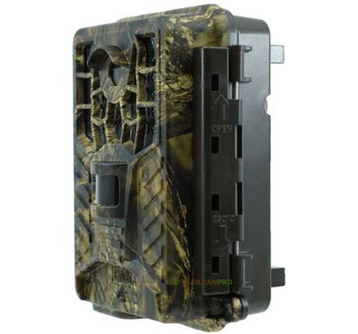 Side view of the Covert Black Maverick Trail Camera