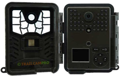 Open view of the Covert Black Maverick Trail Camera