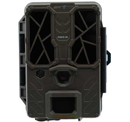 Front view of the Spypoint Force 20 Trail Camera