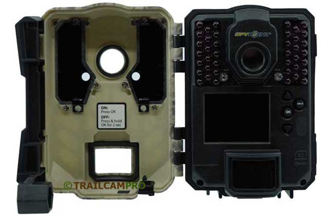 Open View of Spypoint Force Dark Trail Camera