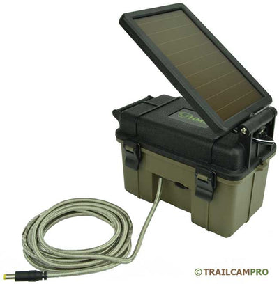 "Solar panel battery pack for trail cameras width=""650"" height=""663"""