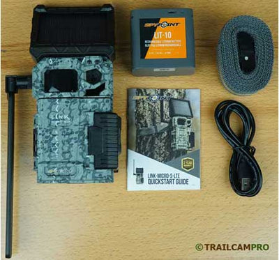 "Spypoint link micro s cellular trail camera contents width=""450"" height=""420"""