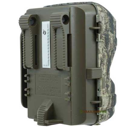 Back view of Moultrie M-8000 trail camera