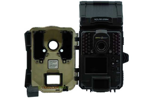 Open View of Spypoint Solar Dark Trail Camera