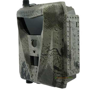 "Spartan GoLive live streaming cellular trail camera side view width=""450"" height=""420"""