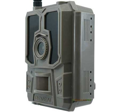 "Tactacam reveal cellular trail camera side view width=""450"" height=""420"""