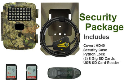 Trail camera package for Covert HD 40