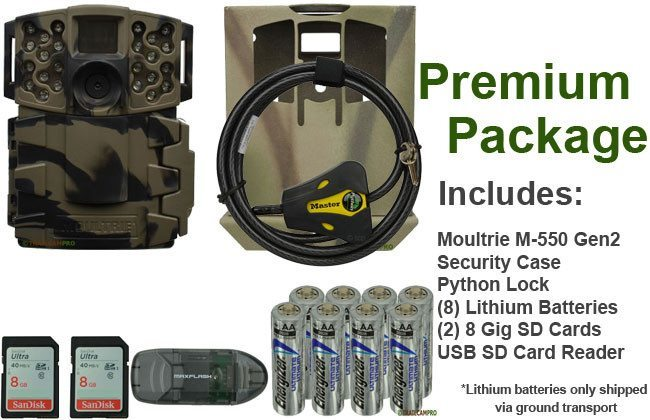 Trail camera package for Moultrie M-550