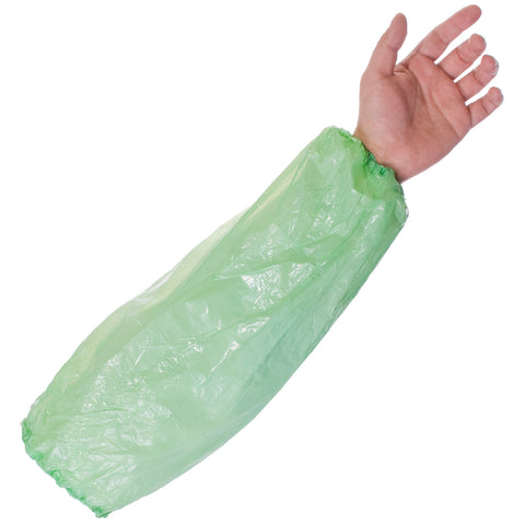 Supertouch PE Disposable sleeves - Green - Worklayers