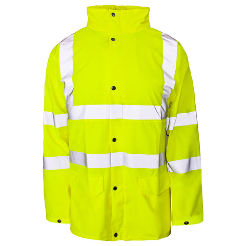Supertouch Hi Vis Storm-Flex PU Jacket - Yellow - Worklayers