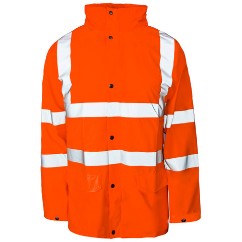 Supertouch Hi Vis Storm-Flex PU Jacket - Orange - Worklayers