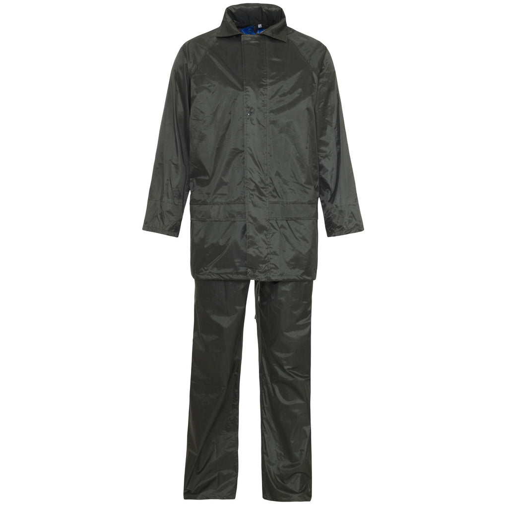 Supertouch Polyester/PVC Rainsuit - Black - Worklayers