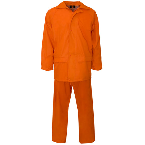 Supertouch Polyester/PVC Rainsuit - Orange - Worklayers