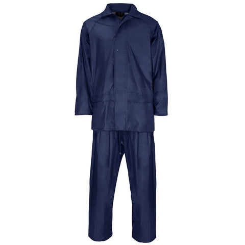 Supertouch Polyester/PVC Rainsuit - Navy - Worklayers