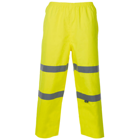 Hi Vis Breathable Trousers Supertouch - Yellow - Worklayers
