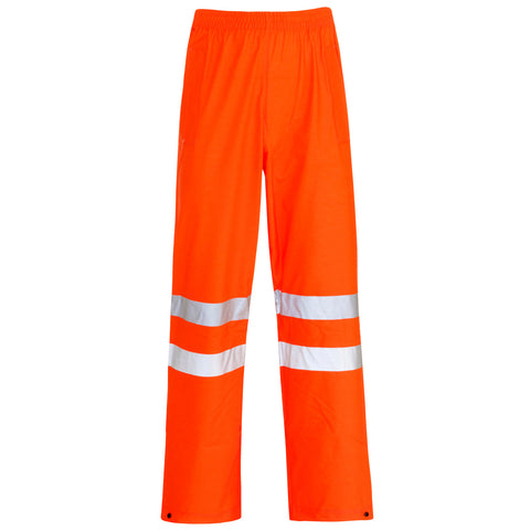 Supertouch Hi Vis Storm-Flex PU Trousers Knee - Orange - Worklayers
