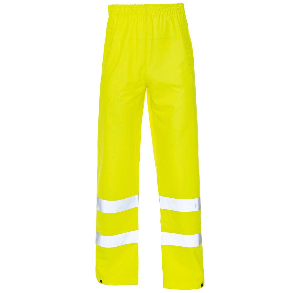 Supertouch Hi Vis Storm-Flex PU Trousers Ankle - Yellow - Worklayers