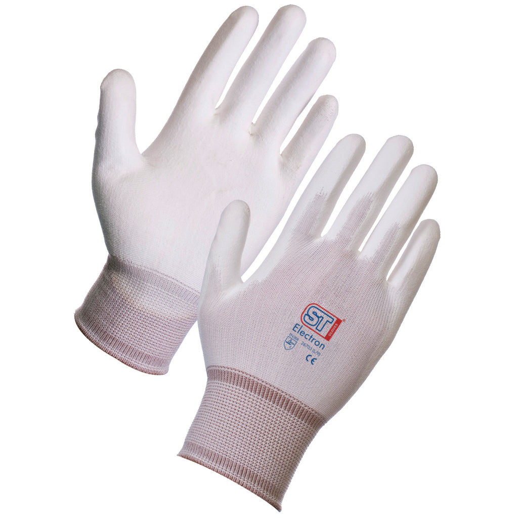 Supertouch Electron PU Gloves - White (120pairs) - Worklayers