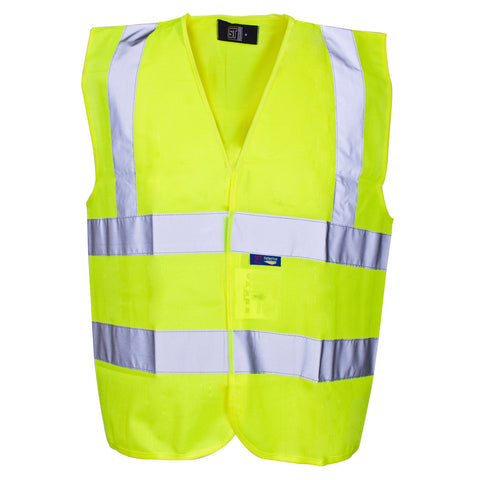 Hi Vis Builders Vest Supertouch - Worklayers